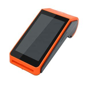 Android 4G Handheld POS Terminal dengan Printer Thermal Barcode Scanner Solusi Pembayaran Mobile