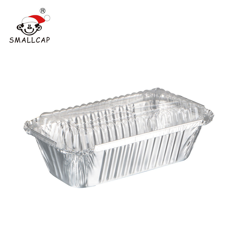 20x11x5cm no 6a 1.5lb 670ml 1067 restaurant food packaging disposable aluminum foil container with lid rec20115I yysmallcap