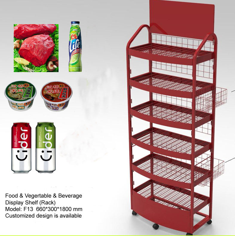 Vlees opslag display stand, brood opslag display rack, voedsel display plank