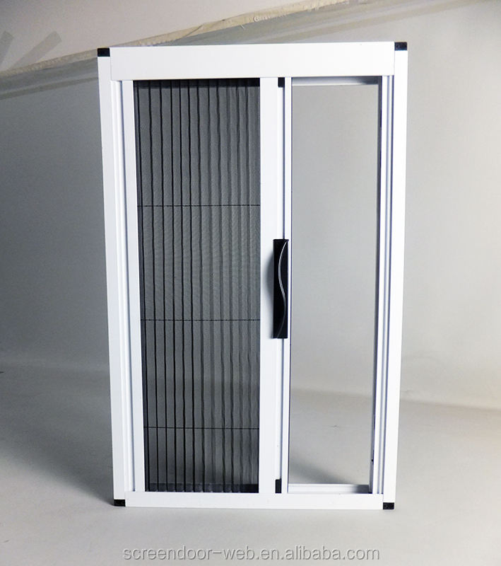 DIY pleated doors folding mesh retractable insect screens