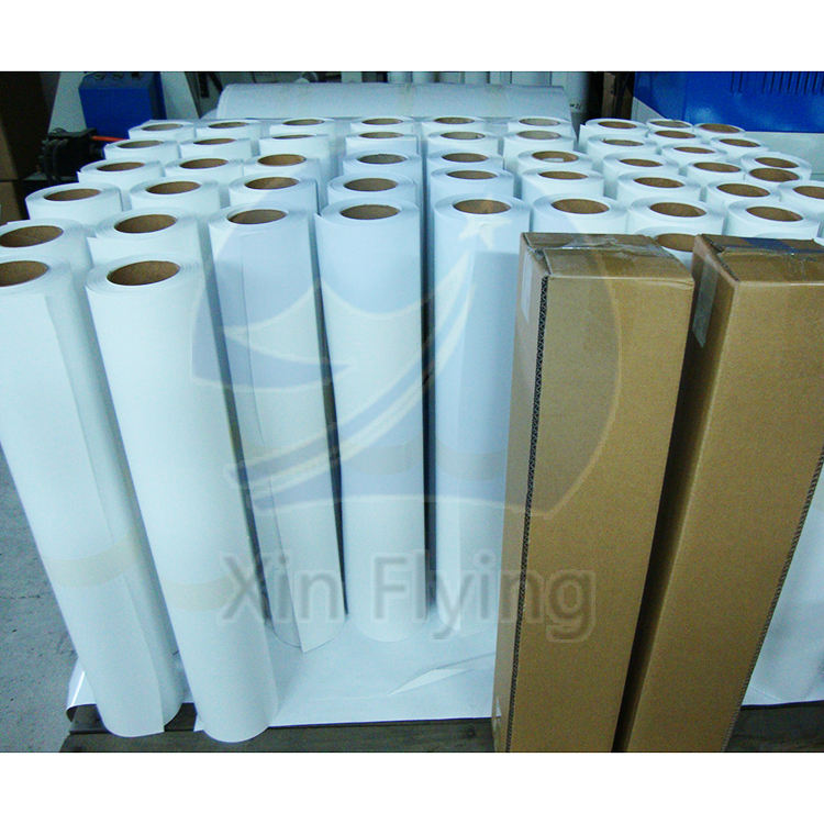 China Factory Dye sublimation paper roll printed in Guangzhou sublimation paper 50g 70g 90g 100g