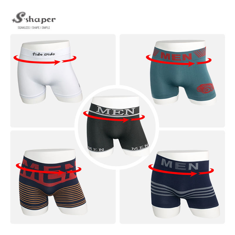 S-SHAPER Hot Selling Comfortable Cheap Price Custom Waistband Blank Breathable Knitted Men Boxer Briefs For Men