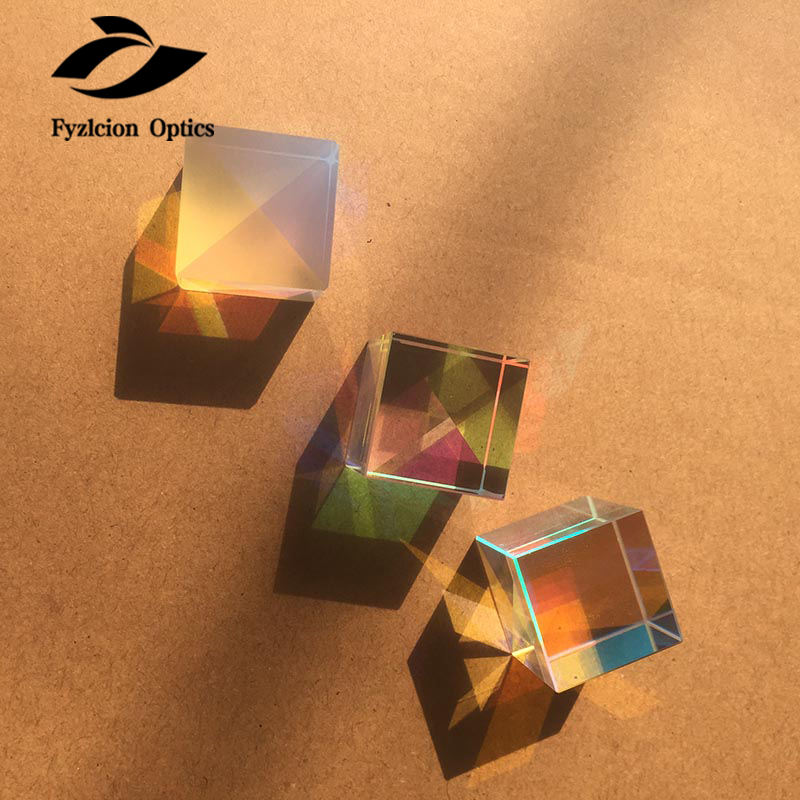 Fast delivery visible light and infared band cube glass prism