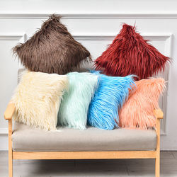 Wholesale Custom Color Long Hair Home Decorative Faux Fur Cu