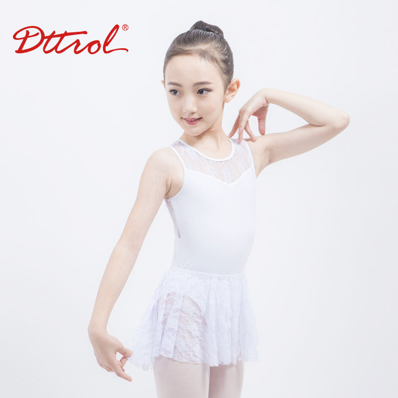 D031040 Dttrol new arrivals white lace tank dance leotards