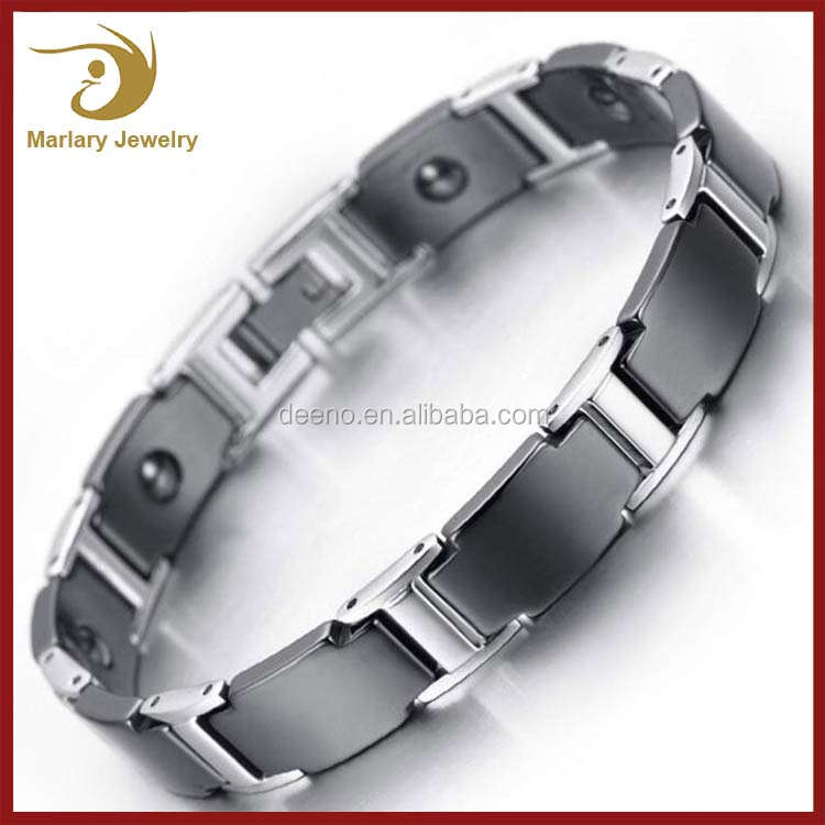 Wholesale Stainless Steel Electromagnetic Field Therapy Tiger Magnetic Mens Bracelets