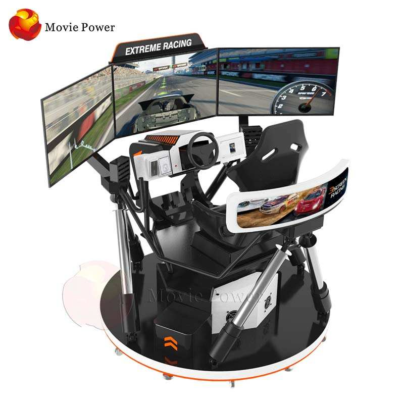 Indoor Sports 4d racing motion seats simulator Amusement Games Car Racing Seat Simulator 5d car driving simulator with 3 screens
