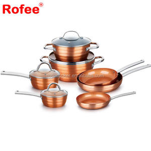 Prestige Non-stick Ceramic Coating Newave Copper Cookware Set with S S Handle