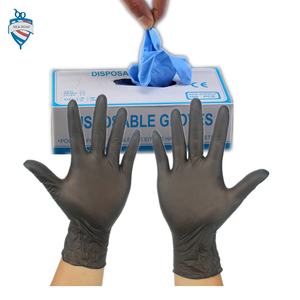 professional black elastic glue rubber nitrile disposable gloves for barber salon wash head mix hair dye with dispenser box