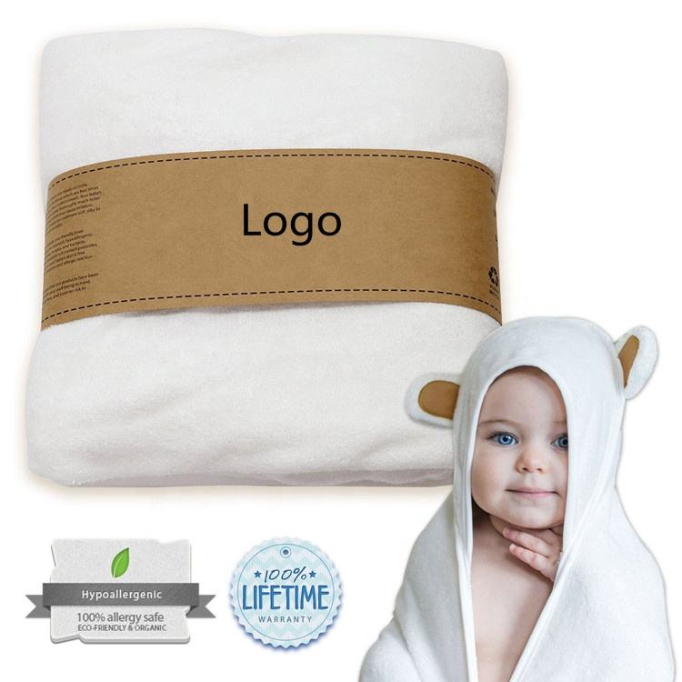 Organic Baby Hooded Towel Ultra Soft Natural Bamboo Towels with Hood for Boys and Girls
