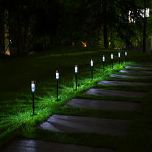Landscape / Pathway Lights Stainless Steel-10 Pack Outdoor LED Solar Garden Light