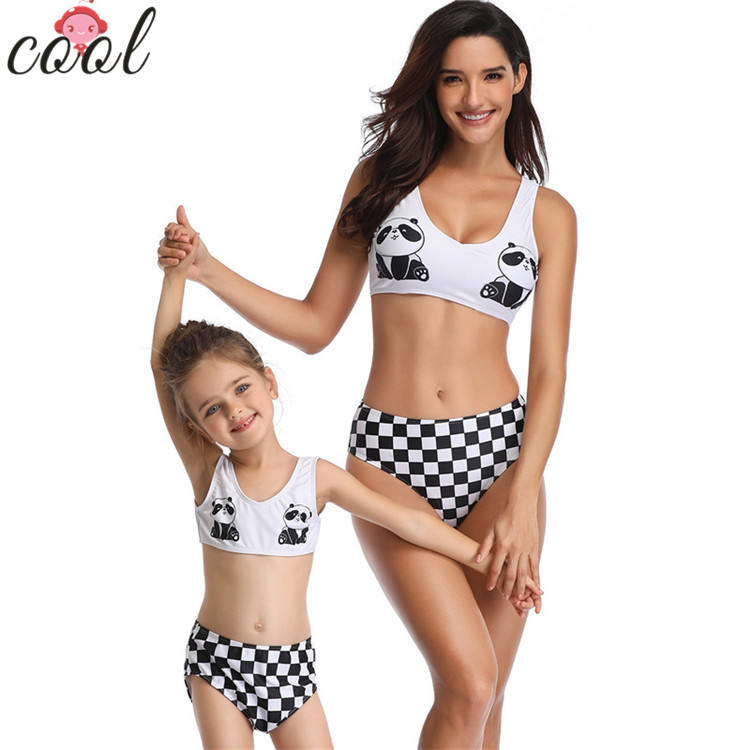 2019 Swimwear swimsuit women bikini kids swimsuit plaid arena swimwear manufacturer for children