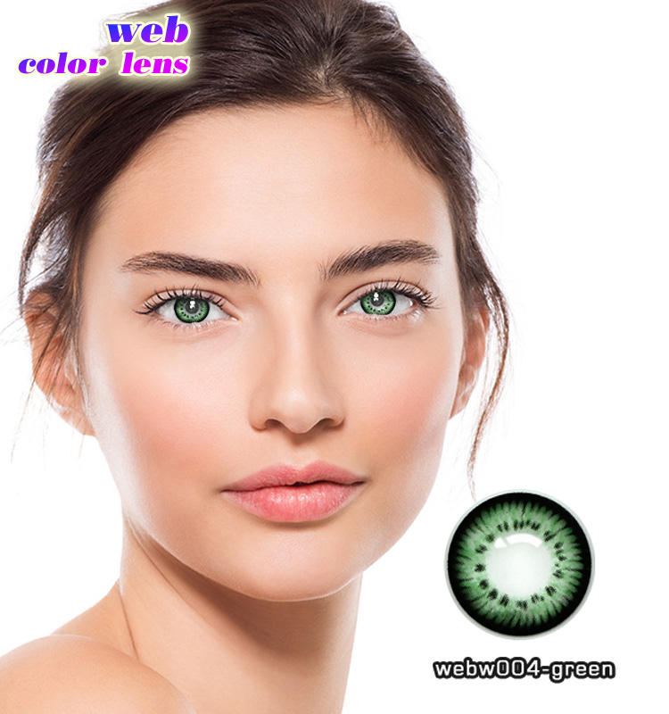 14.5mm DIAMETER comfortable and natural 1 year fancy design colored contact lens from China