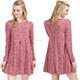 Wholesale Custom Loose Fit Beautiful Cheap Bulk Buy Super Soft Cotton Knit Fabric Plus Size Mini Casual Shift Dress