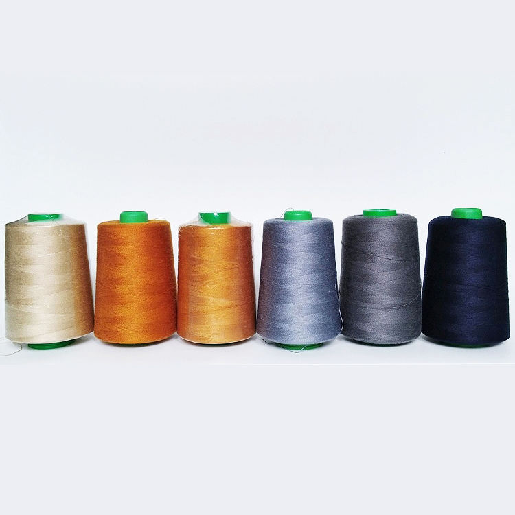 High Quality 20/2 20/3 Gold Grey Navy Blue Manufacturers Industrial Hilo De Coser Jeans Sewing Thread for Jeans