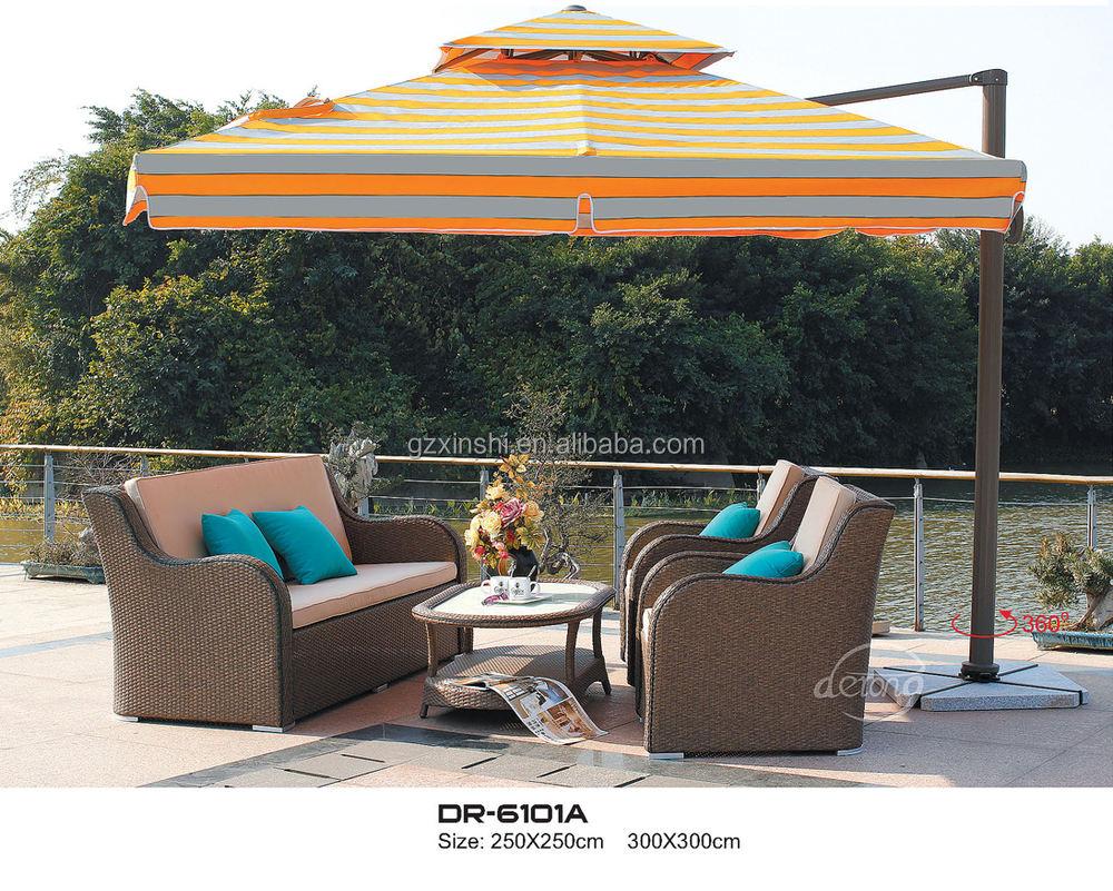 Diseño moderno al por mayor Eroupean proveedor de muebles de ratán sofá al aire libre