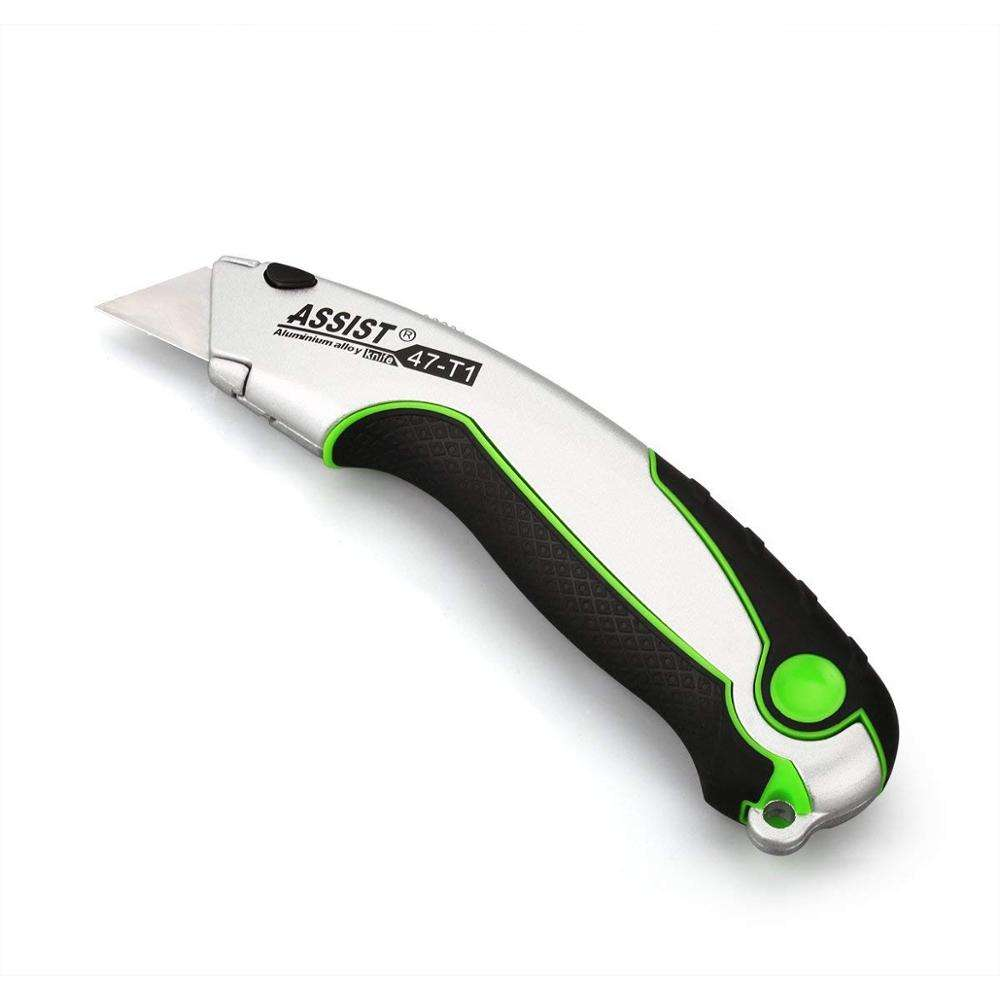 Retractable with Rubber Handle industrial safety utility knife
