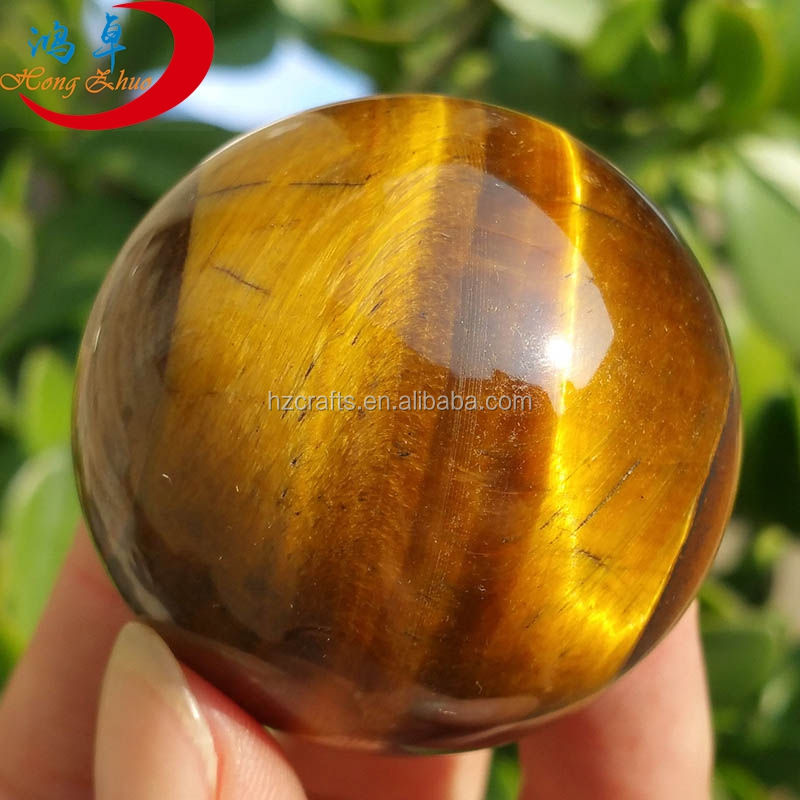 Hot sale Wooden tiger eye sphere ball in 30mm