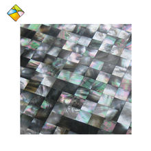 Black Mother of Pearl Shell Mosaic for Interior Decoration