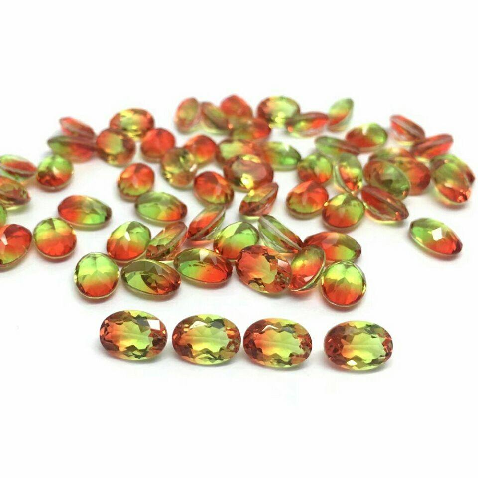 New Product Synthetic Mixed Color Watermelon Tourmaline for Fashion Jewelry