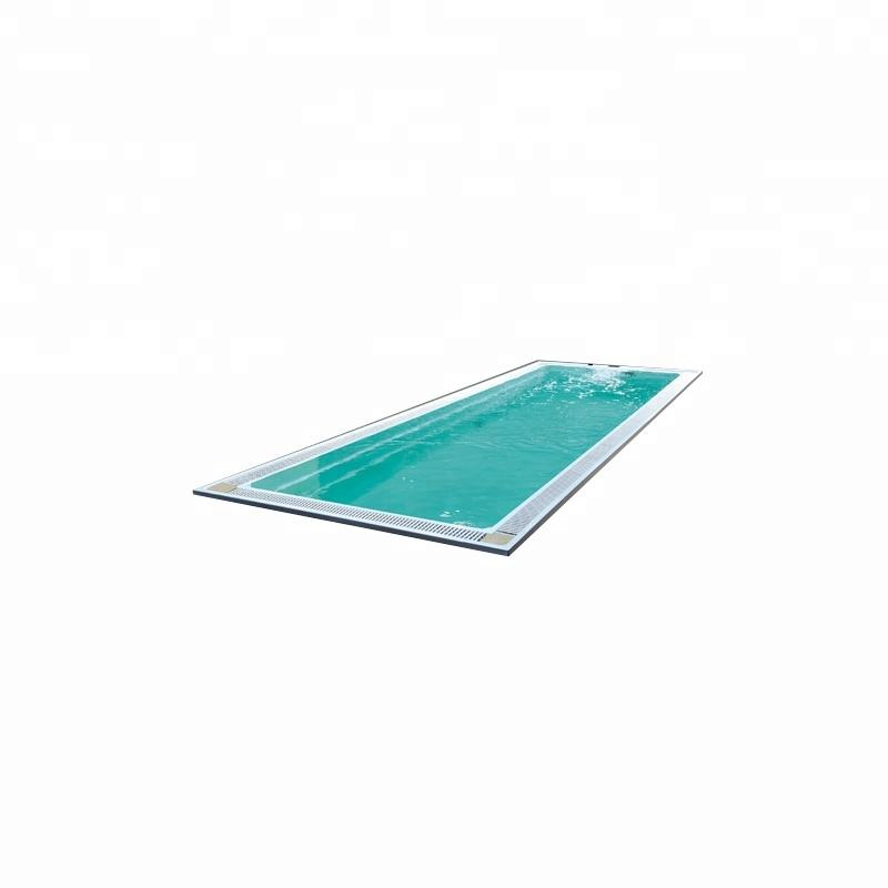 SMP08A Acrylic material without skirt built in insert large outdoor spa swimming pool swim tubs