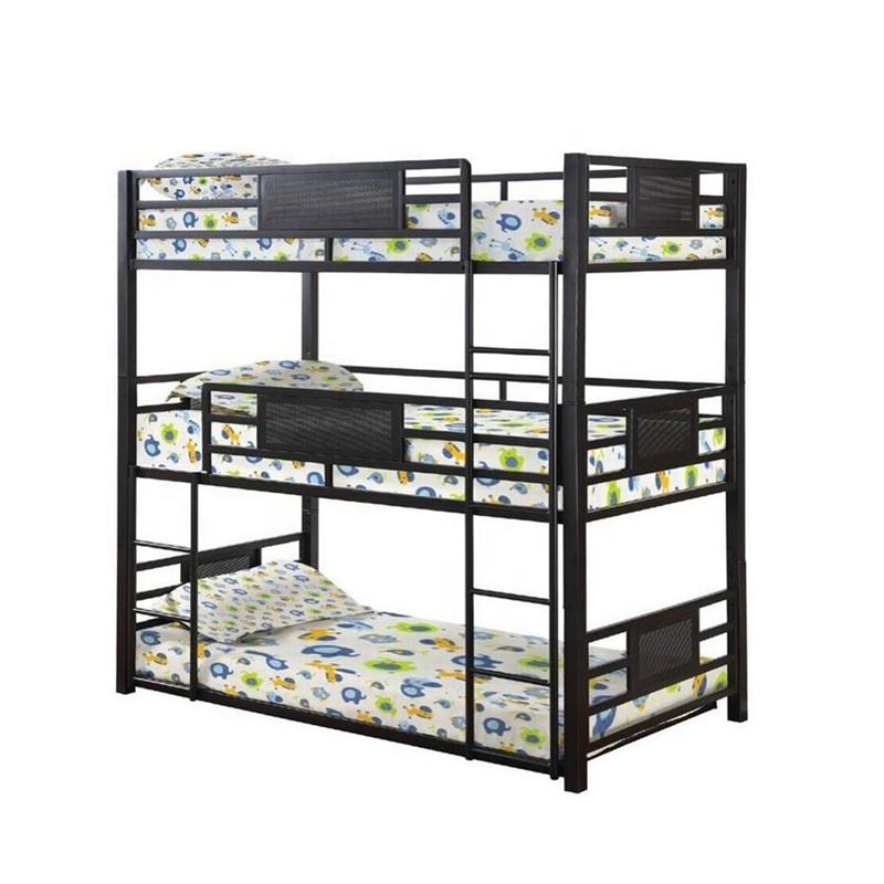 Dormitory Home Use 3 Tier Triple Metal Loft Bunk Bed Sale