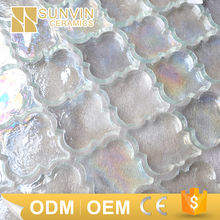 lantern shape white iridescent water jet glass mosaic tile molds