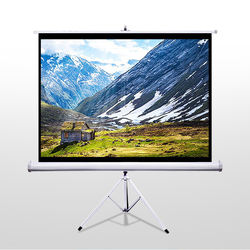 High Quality Portable Tripod Projector Screen/outdoor projection screen