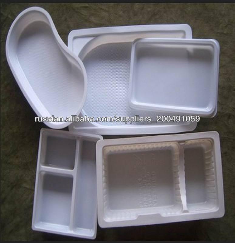 блистерной упаковки лоток& одноразовых пластиковых лотка