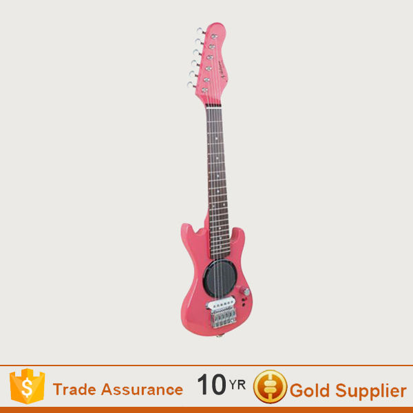 Wholesale pink electric toy guitar for kids with factory price
