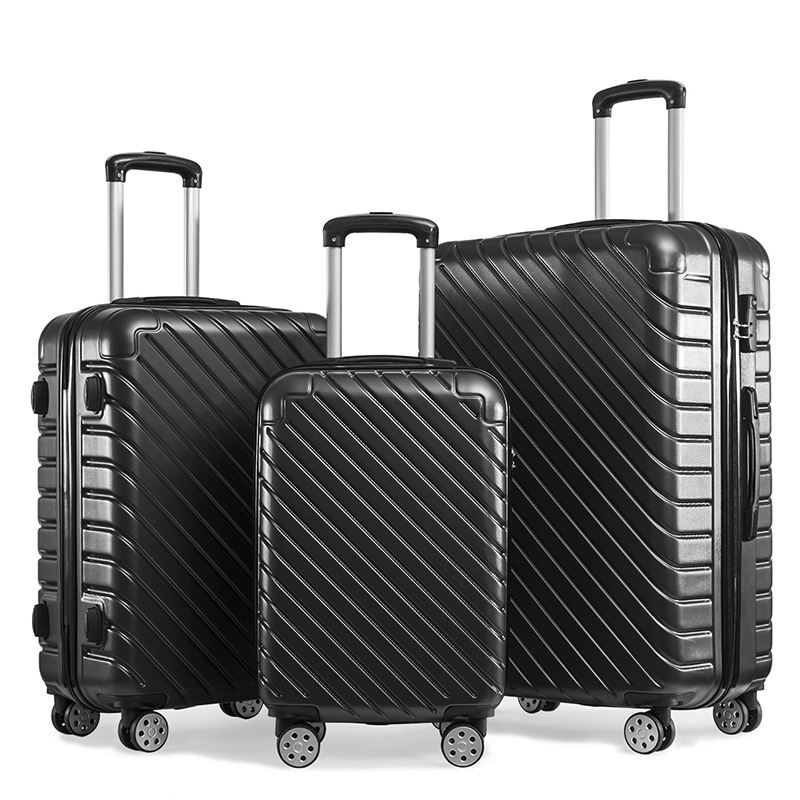 Hot sale ABS travel trolley travel bags luggage set suitcase set 3 pcs