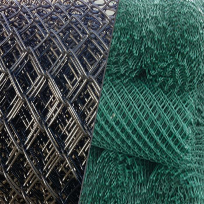 Stainless Steel Diamond Mesh Galvanized Or PVC Coated 6ft/8ft Tall Chain Link Wire Mesh Fence