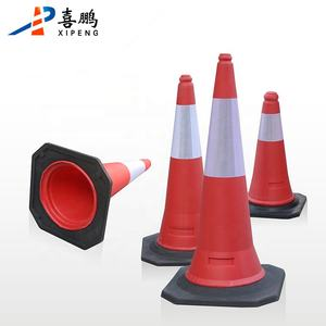 Cheapest Traffic Barrier 100cm PE Traffic Cone With Rubber Base For Road Safety