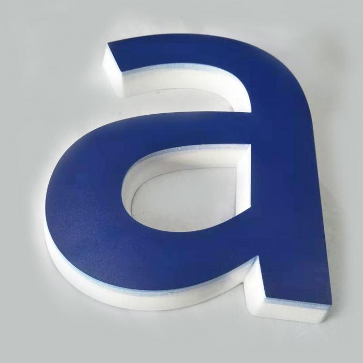 PVC alfabeto acrílico <span class=keywords><strong>3D</strong></span> Logotipo de letras signo personalizado de impresión de oficina