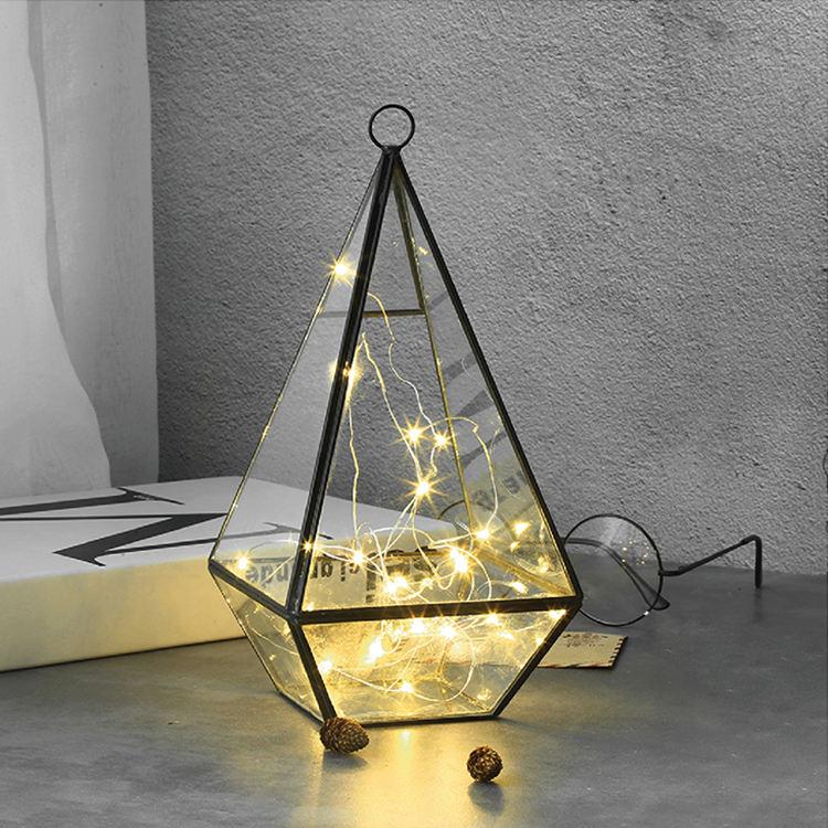 Forma personalizada acrílico cubierta de luz Led cúpula de vidrio para el hogar Navidad
