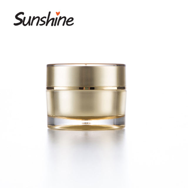 Professinal round shape luxury cosmetics cream empty acrylic jar