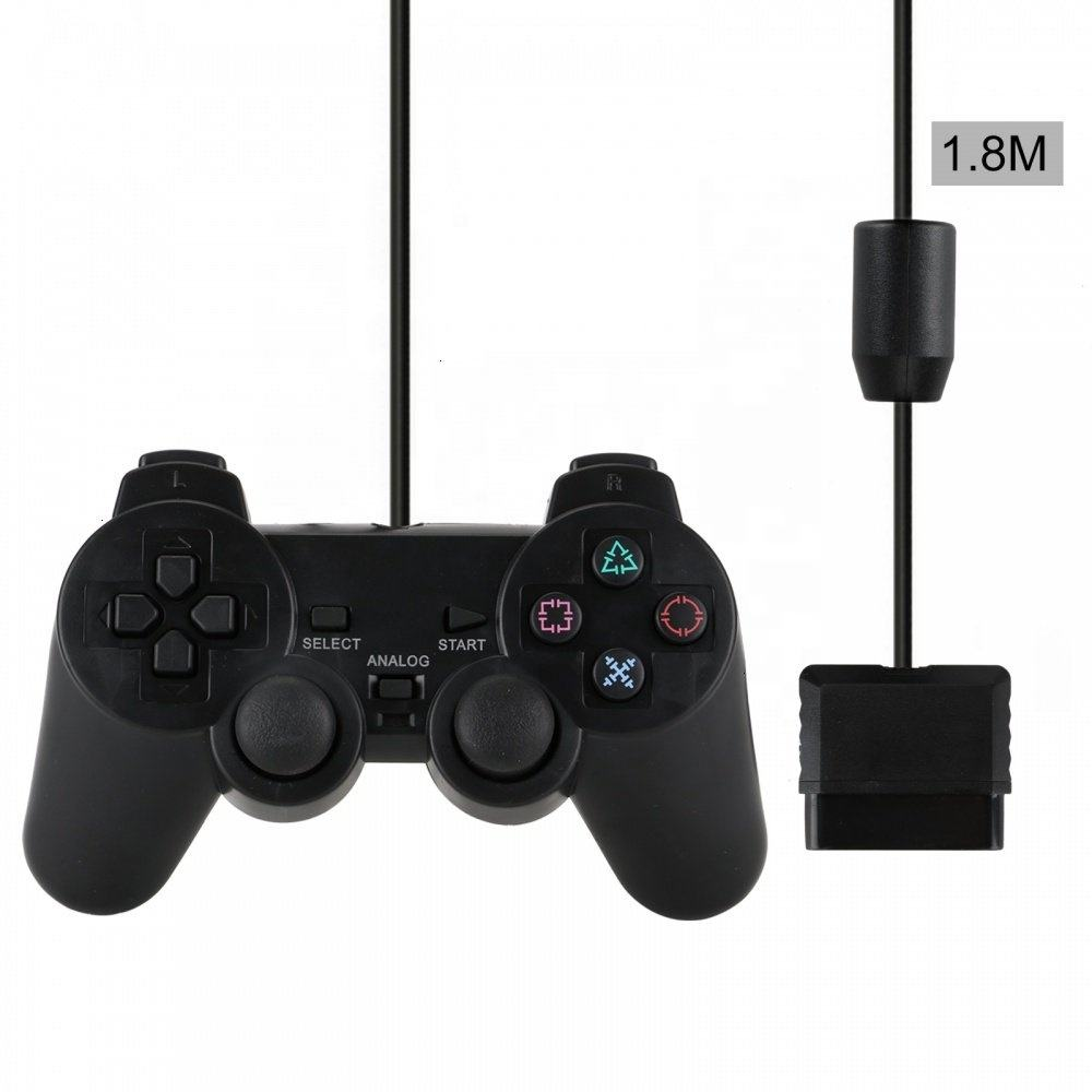 Cabo usb controlador para playstation ps2 com fio 2 joystick console de vídeo game