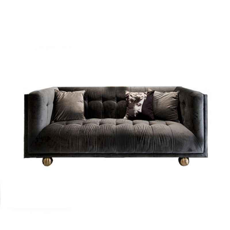 Modern couch living room velvet sofa design
