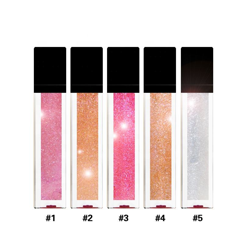 Private Label Cosmetics Glitter Lip Beauty Oem Glossy Make Your Own Lip Gloss