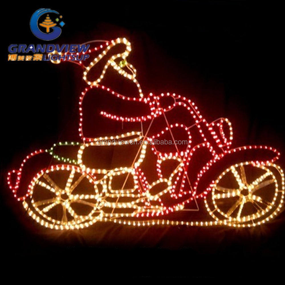 95X73cm Santa Riding Motorcycle Christmas decoration