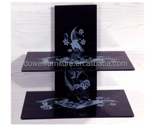 factory supplied wall mount tempered glass lcd tv stand dvd shelf for Living Room