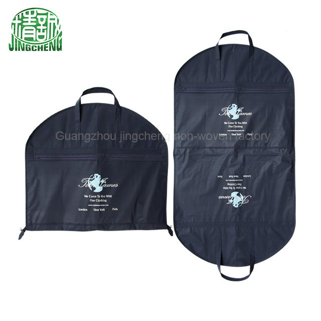 Custom OEM Non Woven Fabric Folding Garment Suit Bag Coat Cover