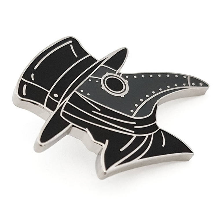 Plague doctor enamel pin metal custom doctor