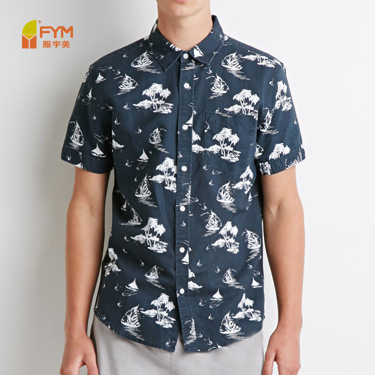 wholesale hawaii style short sleeve mens shirts