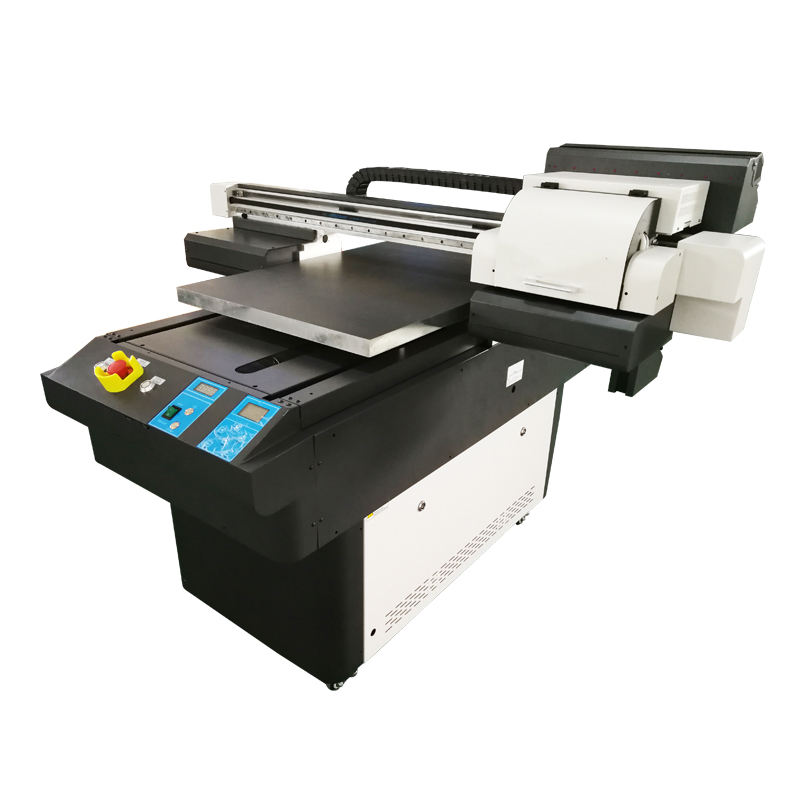 automatic new 60*90cm Wide format multicolor varnish A1 size card Label UV flatbed inkjet printer 6090