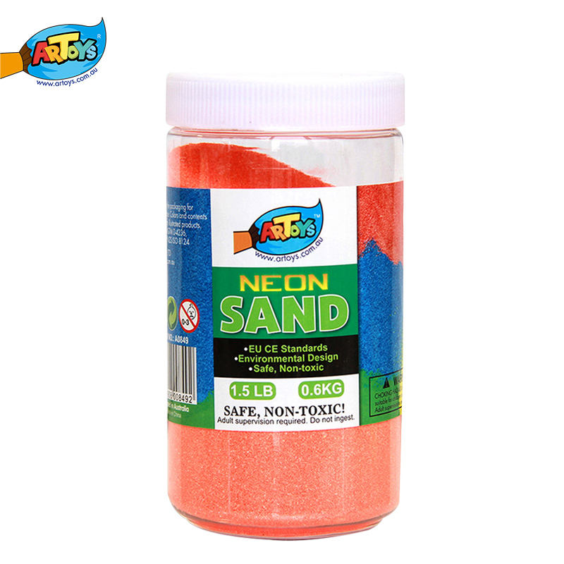 Non-toxic Safe Magic Neon Sand Painting Art Plastic Bottle package