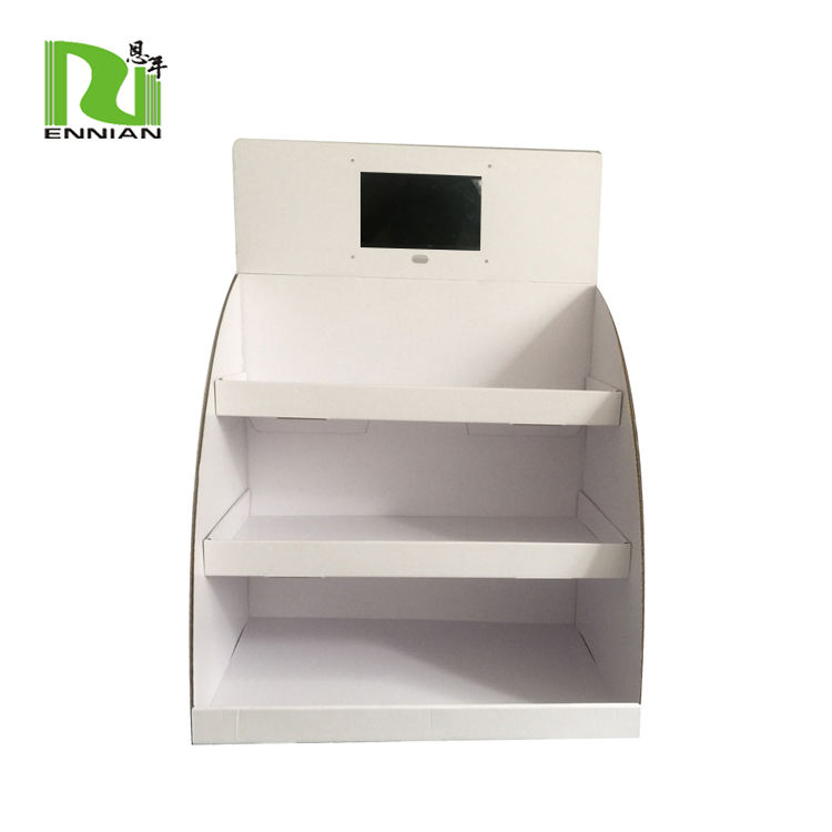 Counter top Cardboard Shelving with 7