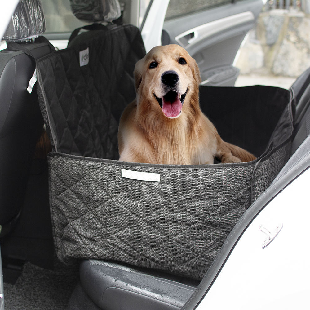 wholesale manufacturer large black waterproof foldable washable carrier pet dog car seat cover