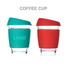 Peddy Hot Selling Wholesale 8oz/12oz Custom Logo Eco Friendly Reusable Coffee Cups With Silicone Lid