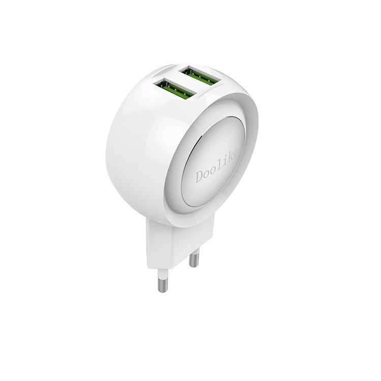 2 usb-poort aluminium micro usb mobiele lader 5 V 2.1A Universele Draagbare usb lader poort